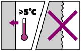 Температура не должна быть ниже +5